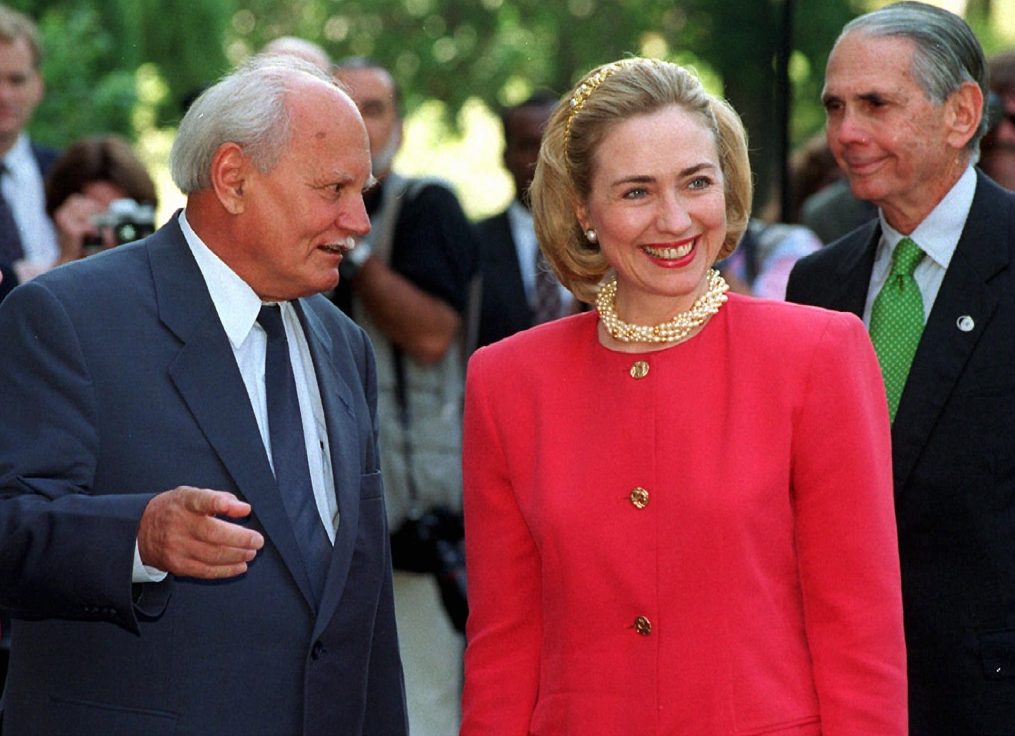Hillary Clinton és Göncz Árpád