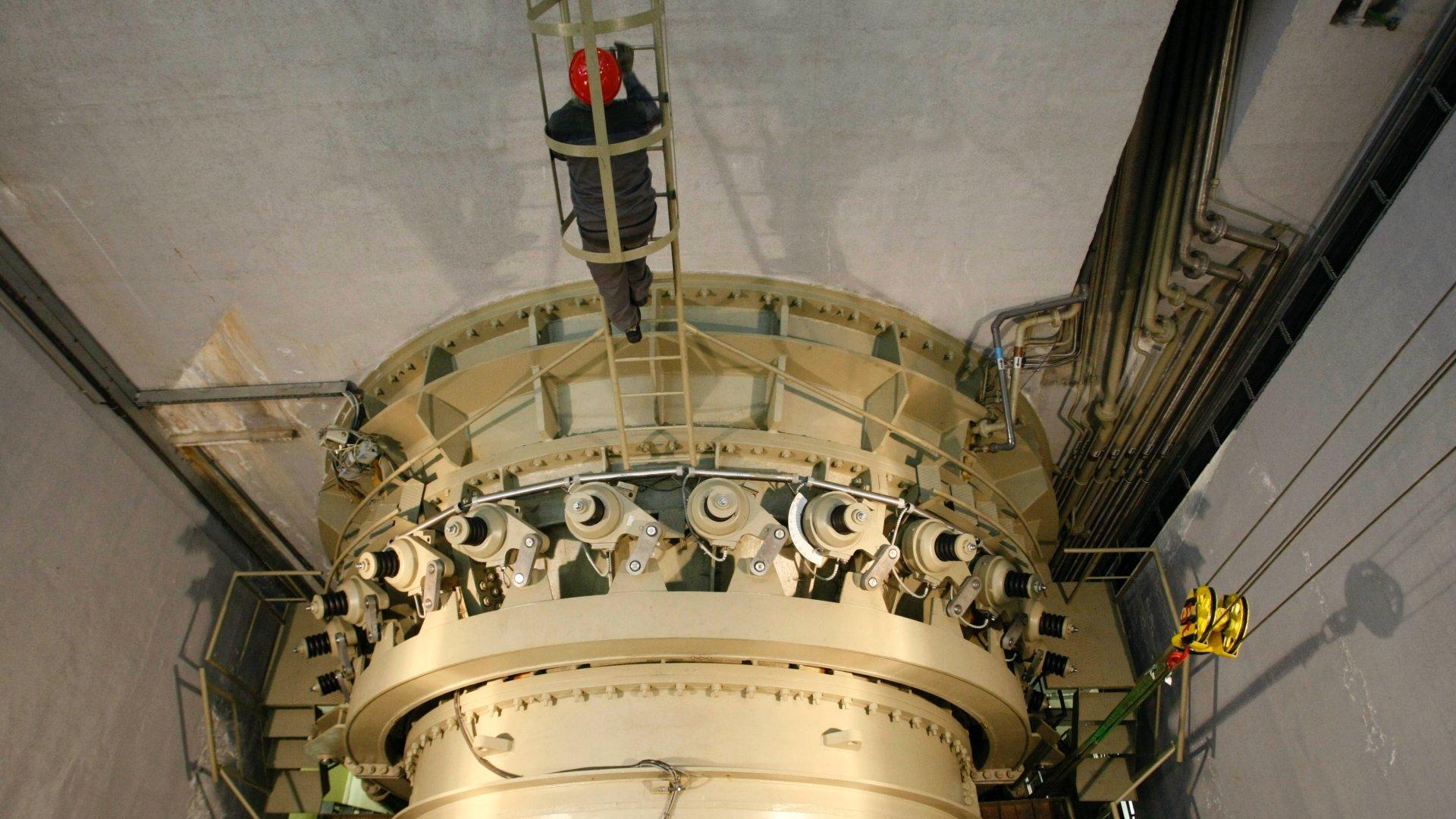 A kiskörei vízerőmű turbinája