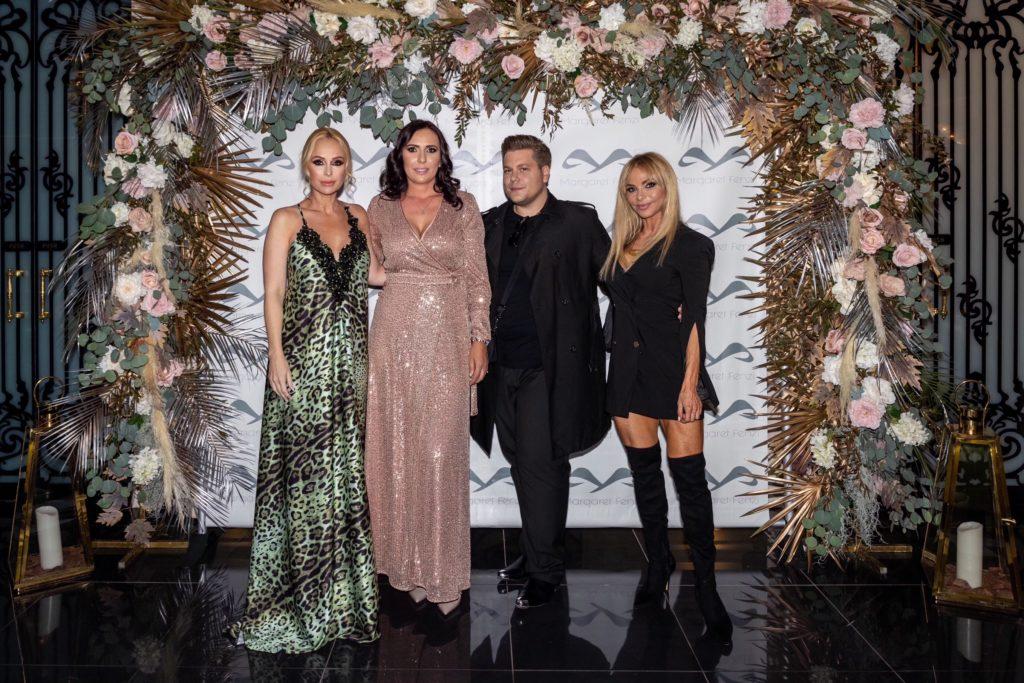 Köllő Babett, Margaret Fenzi, Kiss Márk stylist és Yvonne Dederick a divatbemutatón (