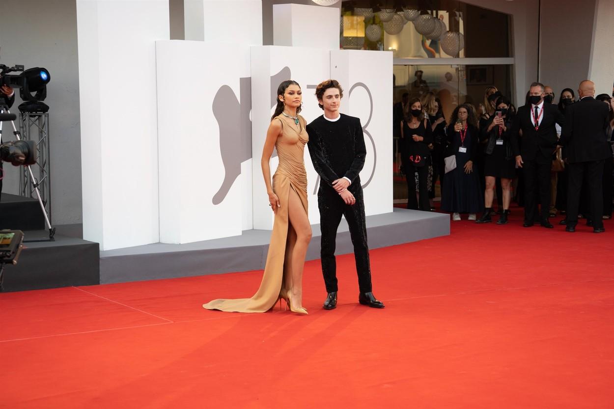 Timothée Chalamet és Zendaya a velencei világpremieren (fotó: Profimédia)