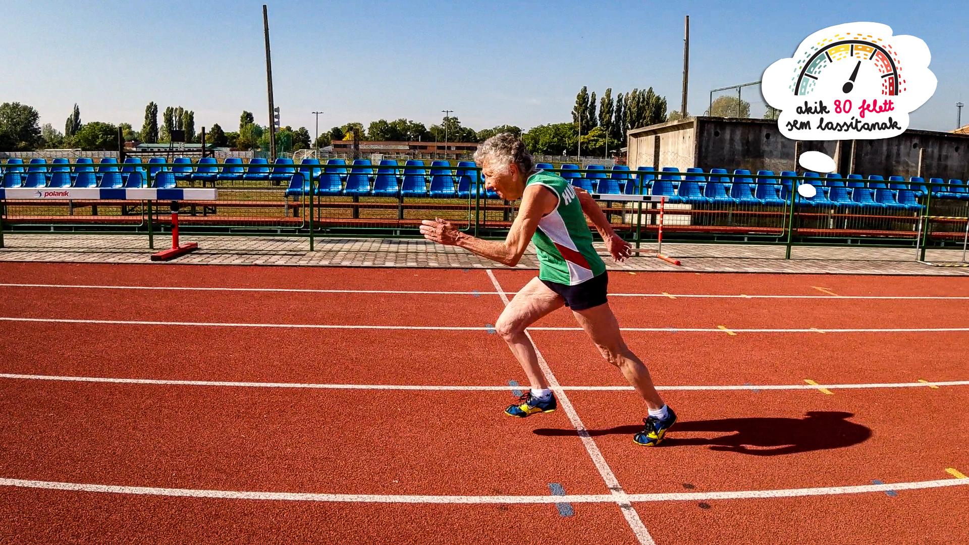 86 éves sprinter néni