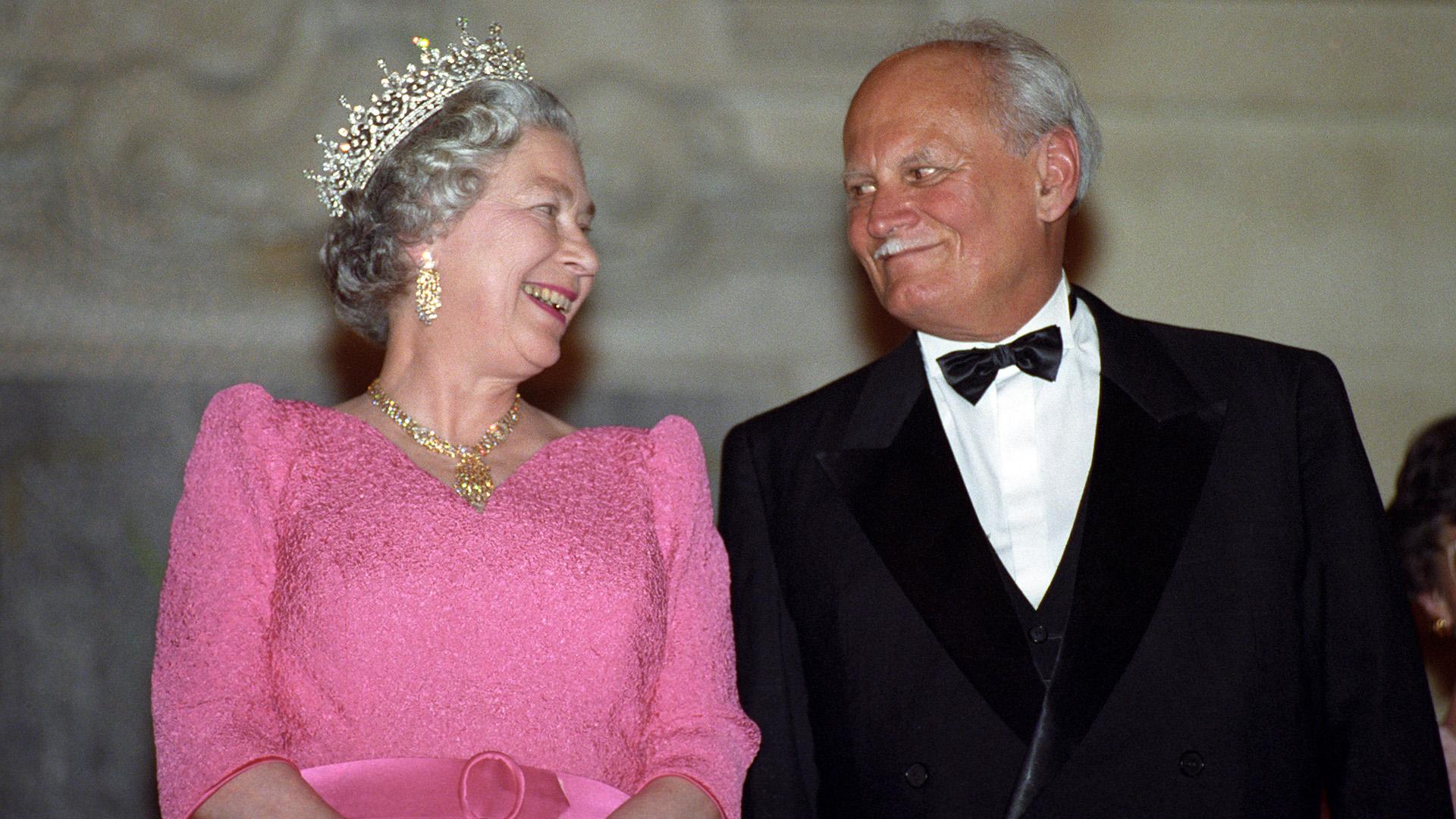 II. Erzsébet királynő és Göncz Árpád